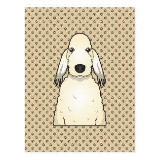 Bedlington Terrier Cartoon Postcard