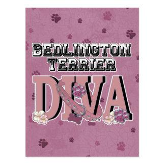 Bedlington Terrier DIVA Postcard
