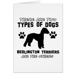 Bedlington Terrier dog designs Card