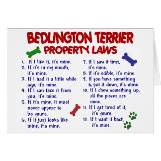 BEDLINGTON TERRIER Property Laws 2 Card