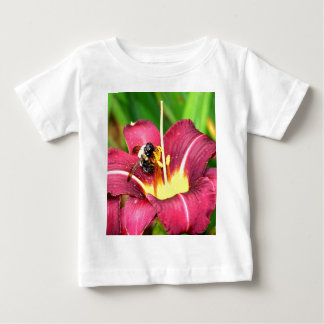 Bee and Daylily Baby T-Shirt
