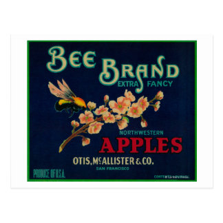 Bee Apple Crate Label Post Cards