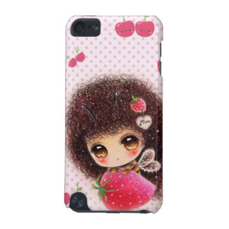 Bee girl with kawaii strawberry iPod touch (5th generation) cases