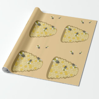 Bee Hive Wrapping Paper