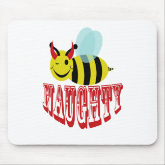 bee naughty mouse pads