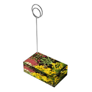Bee on Yellow Flowers Table Number Holder