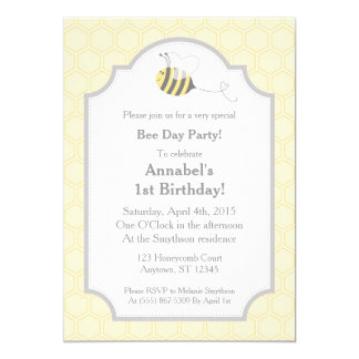 Bee Party Bumble Honeycomb Invitations