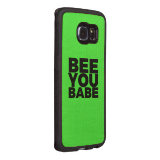 BEE You Babe Wood Phone Case
