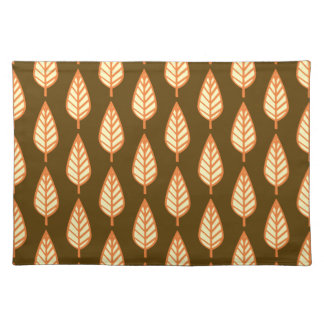 Beech leaf pattern - Orange and brown Placemats