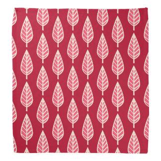 Beech leaf pattern - Ruby red and cream Bandana