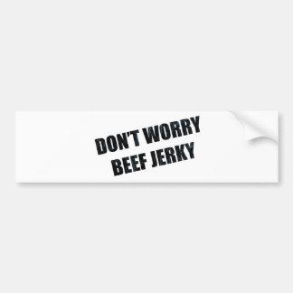 BEEF JERKY BUMPER STICKER