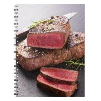 Beef steak notebook