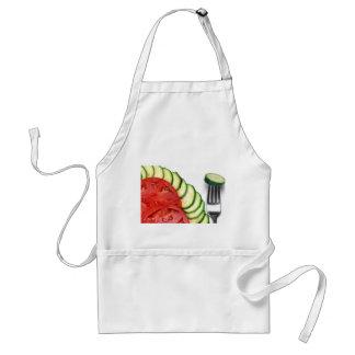 Beefsteak tomato sliced and summer squash standard apron