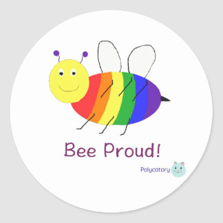 BeeProud Products Classic Round Sticker