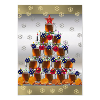 """Beer and Chips 5"""" X 7"""" Invitation Card"""