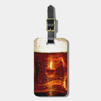 Beer and Foam Luggage Tag