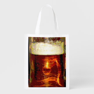 Beer and Foam Reusable Grocery Bag