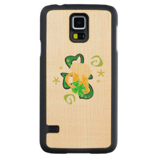 Beer and Irish Shamrock Carved Maple Galaxy S5 Case