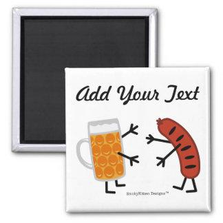 Beer & Bratwurst - Customizable Magnet
