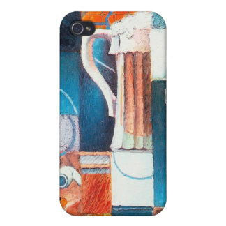 Beer Glass and Cards, by Juan Gris iPhone 4/4S Cover