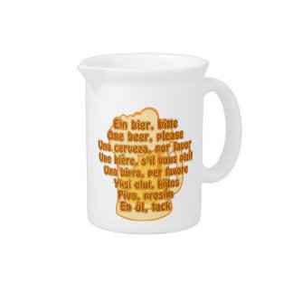 BEER in languages pitcher