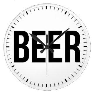 BEER LARGE CLOCK