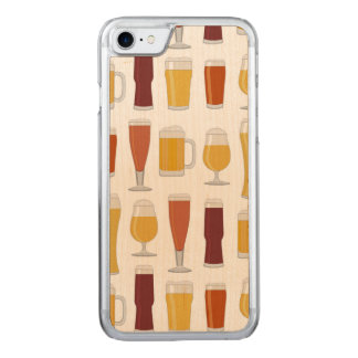 Beer Lover Print Carved iPhone 8/7 Case