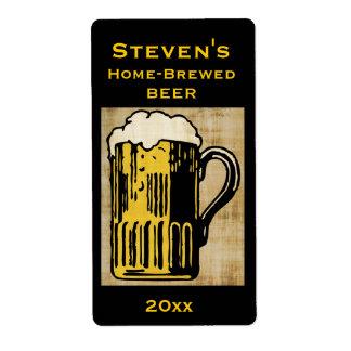 Beer Mug Home-Brew Label
