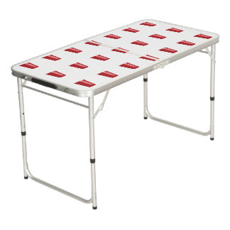 BEER PONG TABLE RED CUP PATTERN