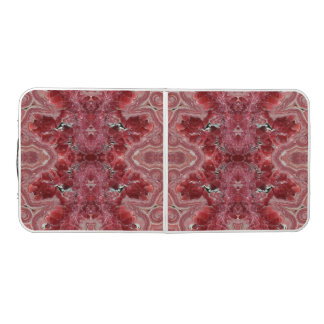 Beer Pong Table with Rhodochrosite pink stone