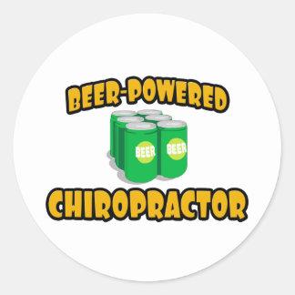 Beer-Powered Chiropractor Stickers