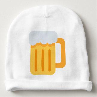 Beer time emoji baby beanie