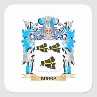 Beers Coat of Arms Square Sticker