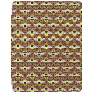 Bees and Honeycomb Pattern iPad Cover