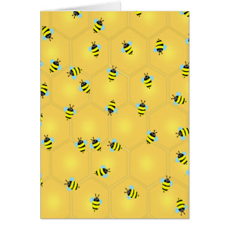 Bees Buzzing Card