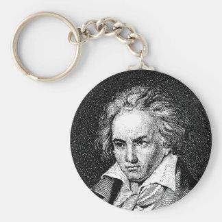 Beethoven Basic Round Button Key Ring