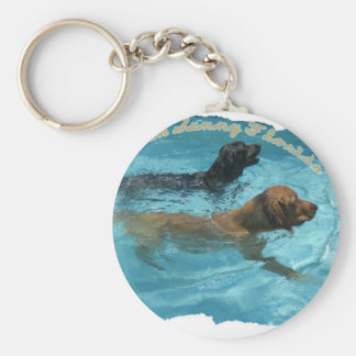 Beethoven & Bentley Basic Round Button Key Ring
