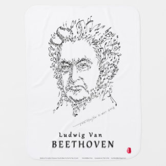 Beethoven Face the Music Baby Blanket