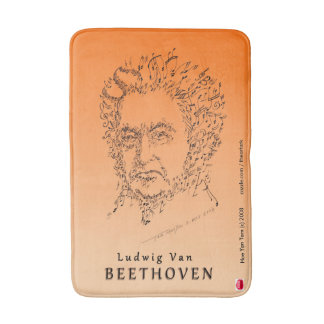 Beethoven Face the Music Bath Mat