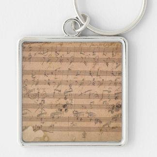 Beethoven Hammerklavier Sonata Music Manuscript Key Ring