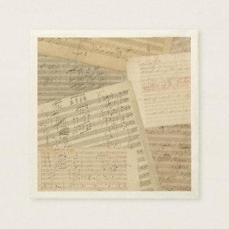 Beethoven Music Manuscript Medley Paper Napkin