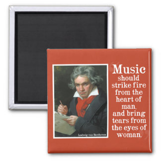 Beethoven Quote on the power of Music Magnet