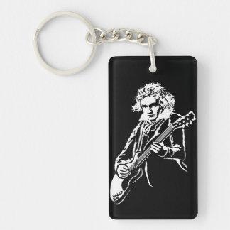 Beethoven Rock! Double-Sided Rectangular Acrylic Key Ring