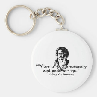 Beethoven -S Basic Round Button Key Ring