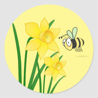 Beezy the Bee Daffodils Stickers