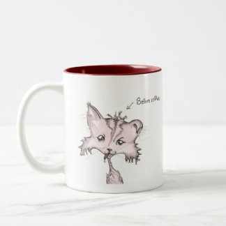 Before and After Coffee Kitty Mug