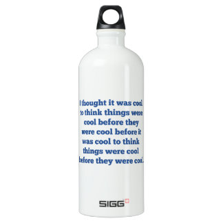 Before It Was Cool Water Bottle