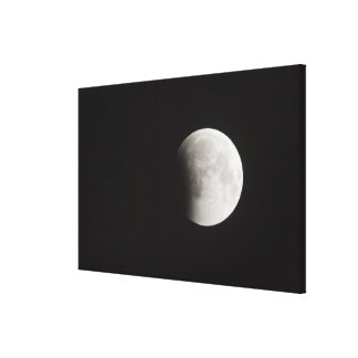 Beginning of a Total Eclipse of the Moon Gallery Wrapped Canvas