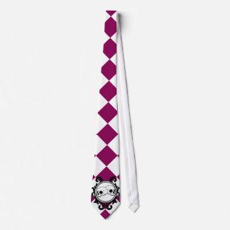 Begird Ivory (Red-Violet) Tie