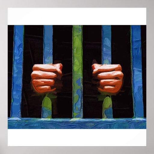 Behind bars poster
